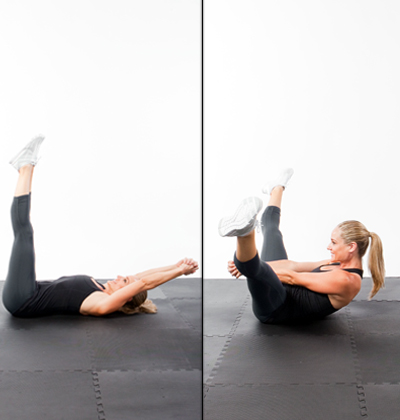 crunch chop  fast abs workout 5minutes to a flat