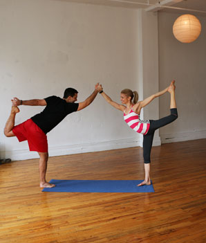Partner Dancer Stand Facing Each Other Hold Others Right Hand Both Partners Soften Through Knees And Shift Weight Onto Leg