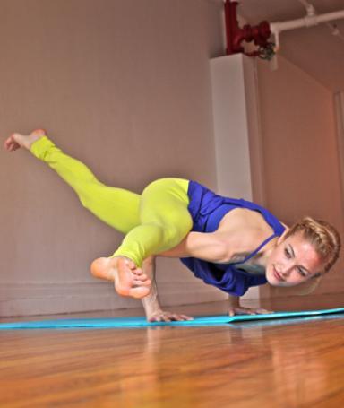 stepbystep yoga pose breakdown splitleg arm balance
