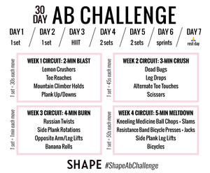 The 30 Day Ab Challenge To Sculpt Flatter Abs By End Of Month