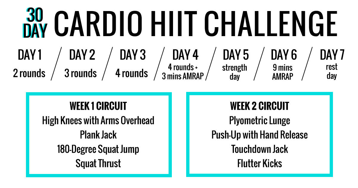 The 30 Day Cardio HIIT Challenge Thats Guaranteed To Boost Your Heart Rate
