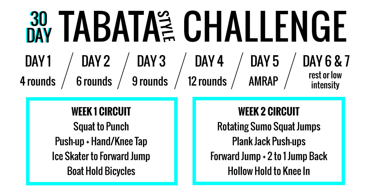 The 30 Day Tabata Style Workout Challenge That Will Have