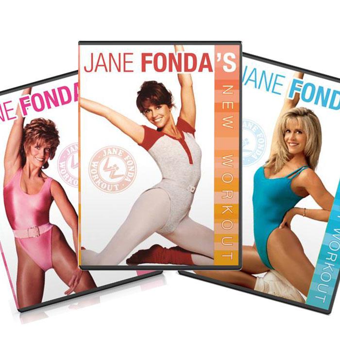 Actress Jane Fonda's workout video dvds
