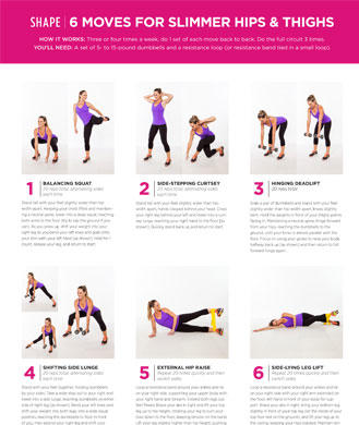 6 Lower Body Exercises for Slimmer Hips and Thighs | Shape ...