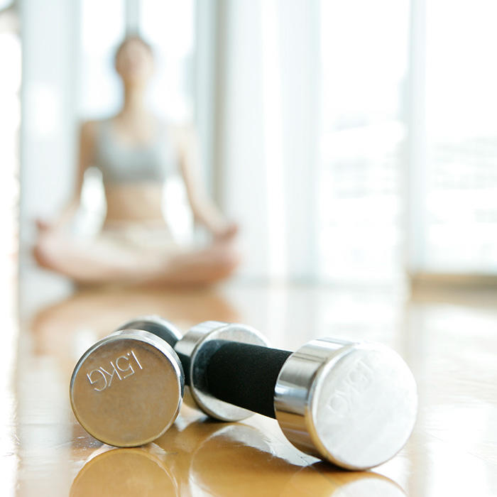 10 Yoga Poses With Dumbbells From Corepower Yoga Shape
