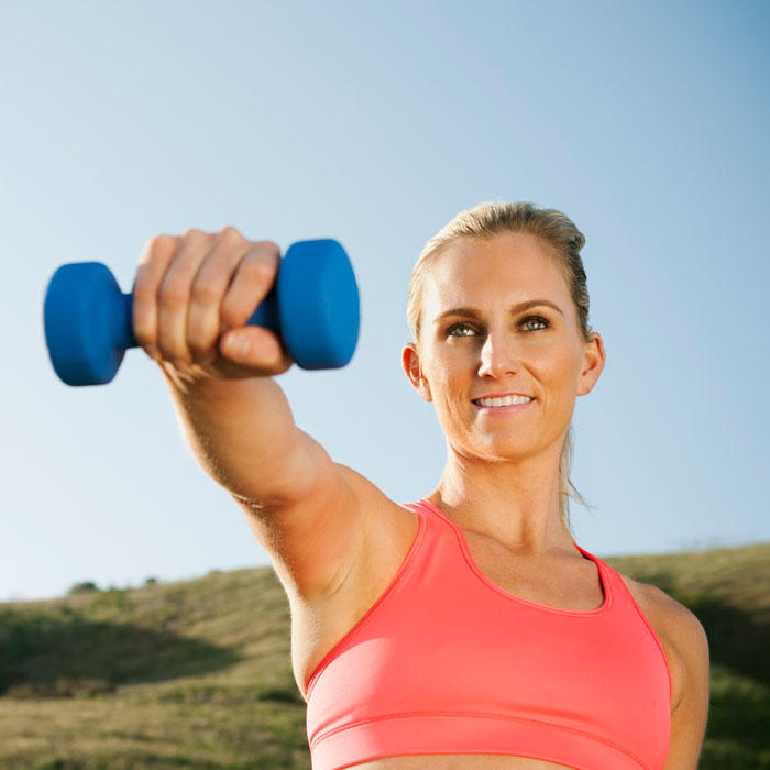 Full Body Workout Routine 6 Single Dumbbell Exercises Shape Magazine