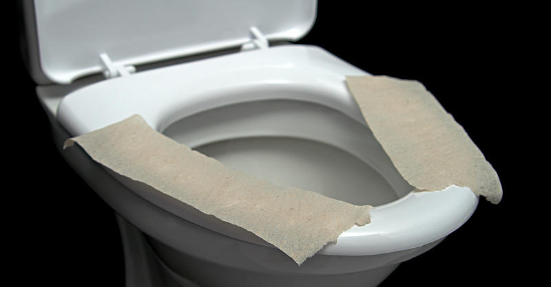 Toilet Seat Covers Dont Protect Against Germs And Bacteria