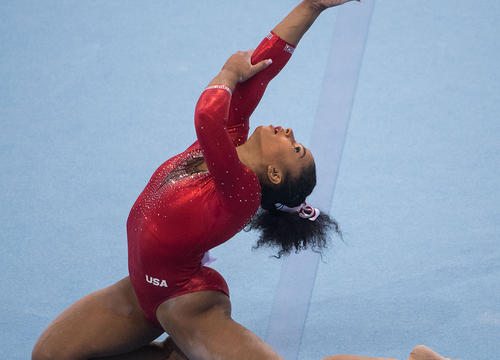 Jordan Chiles Channeled Wonder Woman at the U.S. Gymnastics Championships and Everyone Is Obsessed
