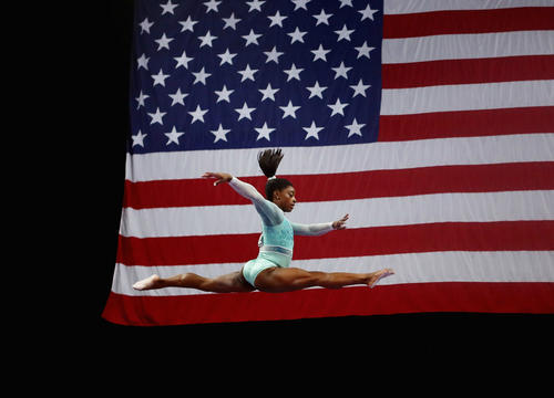 Simone Biles Sweeps U.S. Gymnastics Championships While Supporting Fellow Sexual Assault Survivors