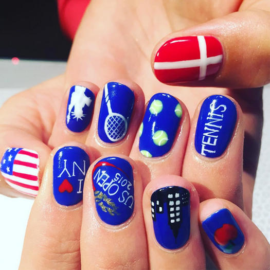 The best sporty nail art on instagram shape magazine tennis superstar prinsesfo Choice Image