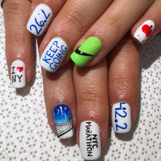 The best sporty nail art on instagram shape magazine keep going prinsesfo Choice Image