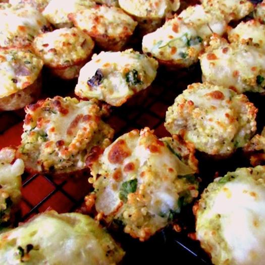 Easy vegetarian party appetizer ideas shape magazine mini pizza quinoa quiches forumfinder Images