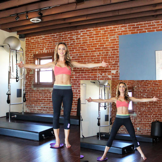 Pilates side splits inner thighs exercise