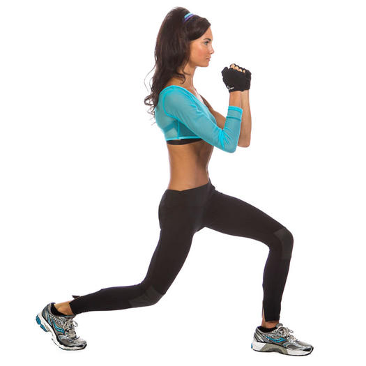 Bodyweight lunges inner thigh exercise