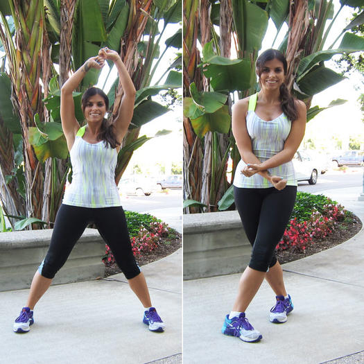 Criss-cross jacks inner thighs exercise