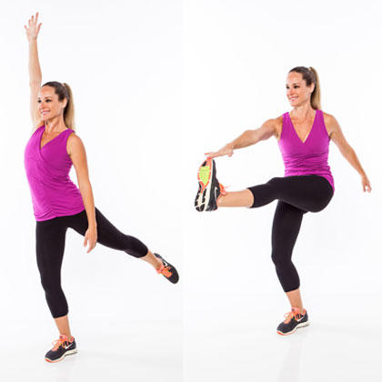 extended toe touch standing abs exercise