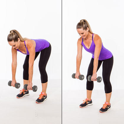 Image result for woman Hinging Deadliftwith Dumbbells