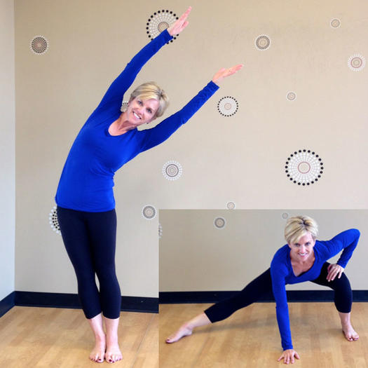 Tree lean to side lunge inner thighs exercise