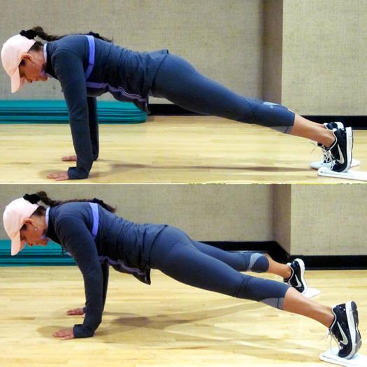 Scissor Legs Plank