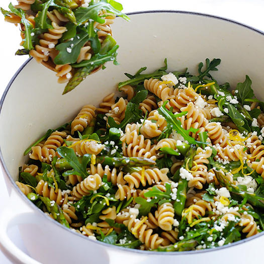 Asparagus And Arugula Pasta Salad