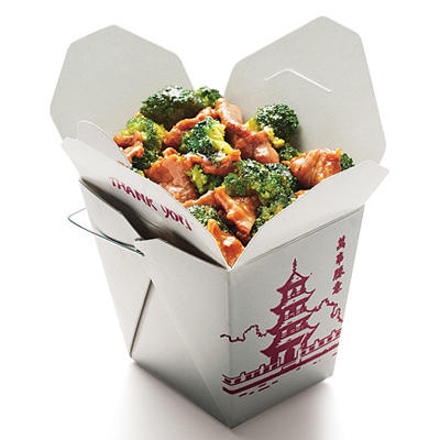Healthy chinese food beef and broccoli