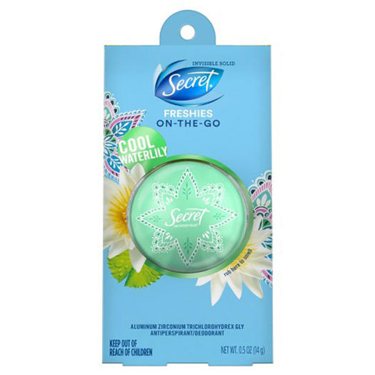 best deodorant secret freshies in cool waterlily