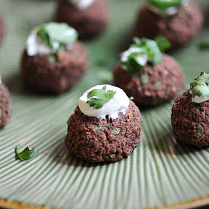 Healthy eating top 10 party food ideas under 10 shape magazine black bean cakes forumfinder Images