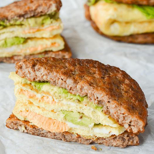 low-carb keto breakfast sandwich recipe