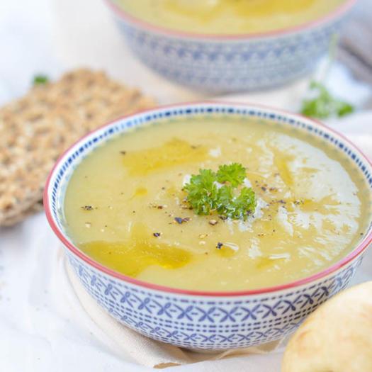 leek parsnip keto soup