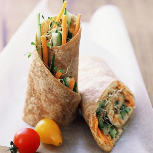 Healthy lunch recipes top 10 sandwiches under 300 calories crunchy hummus wrap forumfinder