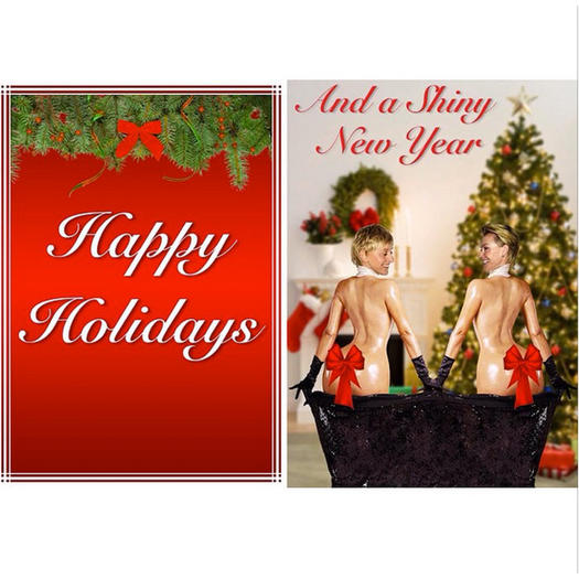 ellen degeneres and portia de rossi - Best Holiday Cards