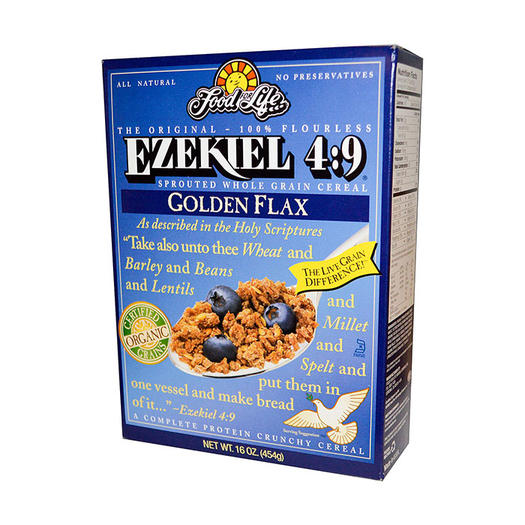 10 healthy cereal options with whole grains low sugar shape ezekiel 49 sprouted whole grain cereal golden flax ccuart Gallery