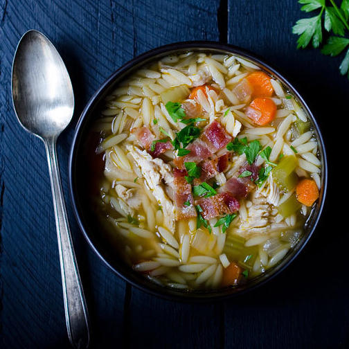 Healthy eating 9 bone broth based soup recipes shape magazine one pot chicken and bacon orzo soup forumfinder Choice Image