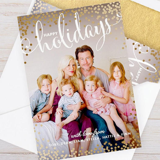 tori spelling - Best Holiday Cards