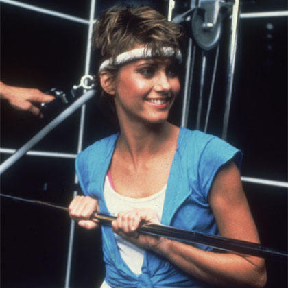olivia newton john headband. 80s fitness icons: where are they now? olivia newton john headband