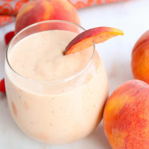 peach melba smoothie recipe