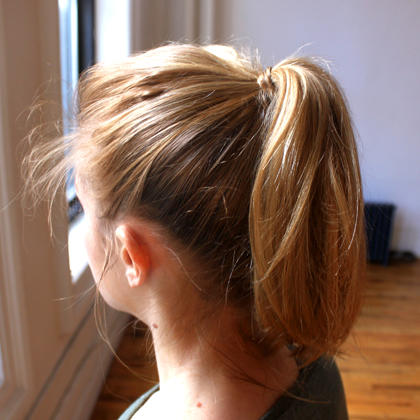 Ponytail with Hair Wrap