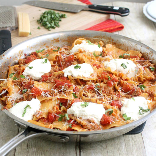 One dish meals recipes shape magazine skillet lasagna forumfinder Gallery