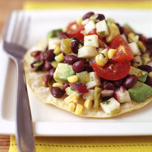 Vegetarian recipes 15 easy meatless meals for breakfast lunch mexican black bean salad tostada forumfinder Image collections