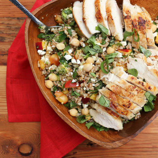 10 quick and healthy chicken recipes for lunch shape magazine farro herb salad with chicken forumfinder Image collections
