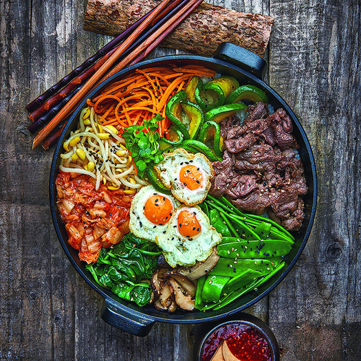 9 healthy korean recipes you can make at home shape magazine mixed rice bowl with beef bibimbap forumfinder Gallery