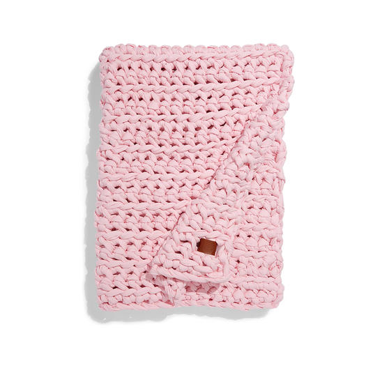 Sheltered Co. pink knitted Weighted Blanket