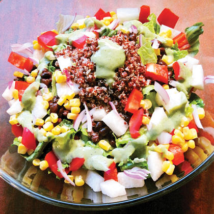 Healthy meal ideas 6 high protein vegan recipes shape magazine high protein vegan southwestern salad forumfinder Image collections