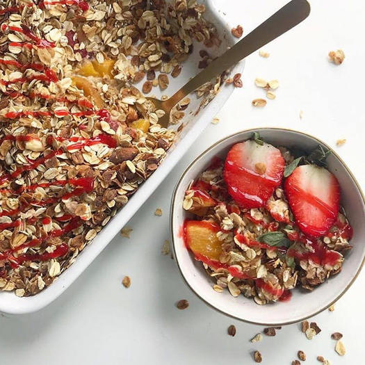 strawberry peach crisp recipe
