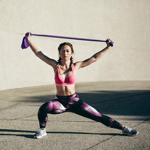 flexible woman strength training