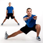Cossack squat inner thighs exercise
