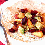peach fruit breakfast tacos