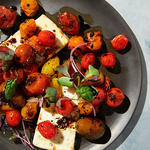 easy mediterranean diet recipe with tomatoes and feta