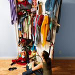 Clean out your closet to make good habits and stay moitvated