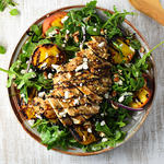 grilled peaches and chicken salad recipe